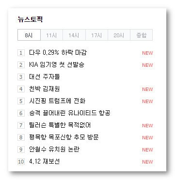 trending searches on naver