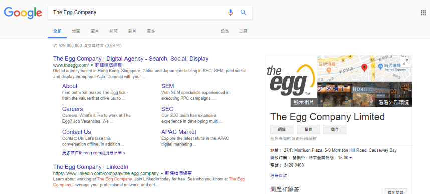 The Egg Company SERP
