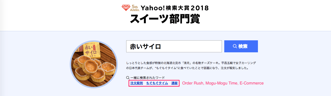 Yahoo Japan Search Awards 2018: Akai-Sairo