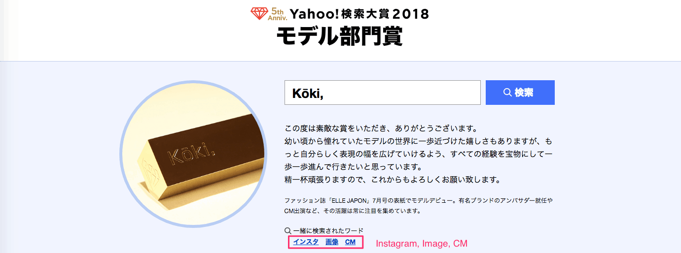 Yahoo Japan Search Awards 2018: Kiko