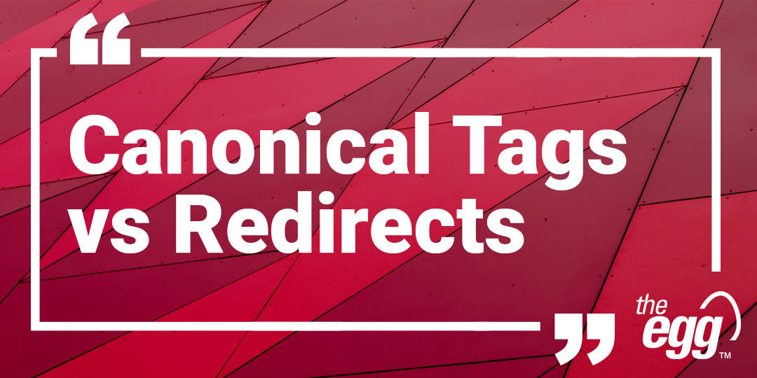 Canonical tags vs redirects