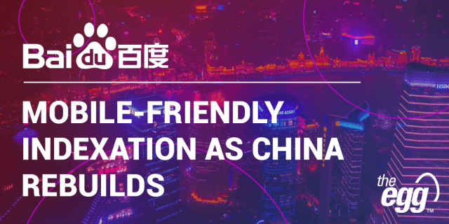 SEO Recovery in China - Baidu updates its indexation tool