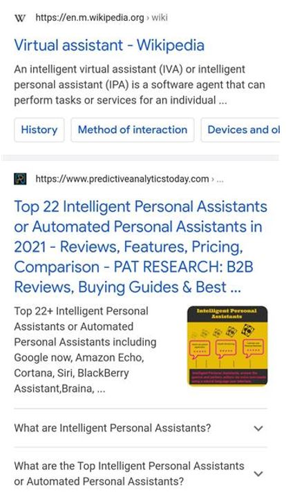 2. FAQ featured snippet on Google's SERP (mobile)